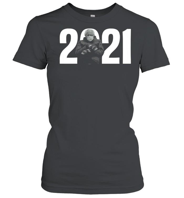 2021 Bernie Sanders Mittens Meme shirt Classic Women's T-shirt