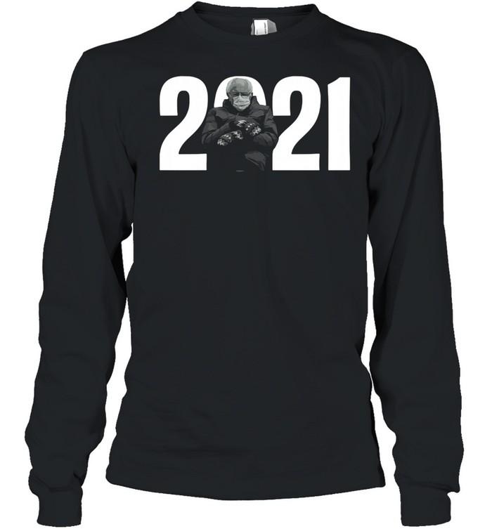 2021 Bernie Sanders Mittens Meme shirt Long Sleeved T-shirt