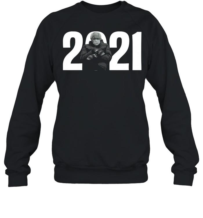 2021 Bernie Sanders Mittens Meme shirt Unisex Sweatshirt