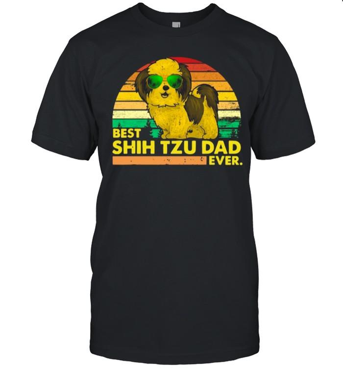 Vintage Retro Best Shih Tzu Dad Ever 2021 shirt