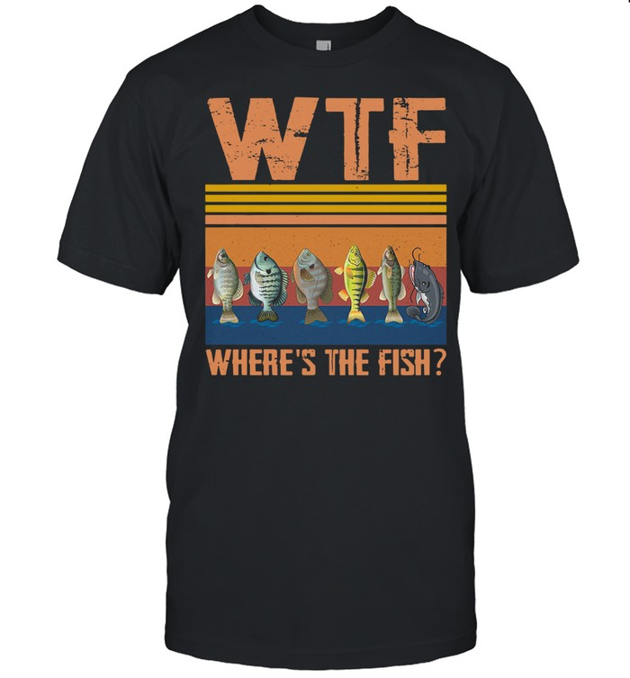 Retro Wtf Where's The Fish Vintage Retro 2021 shirt