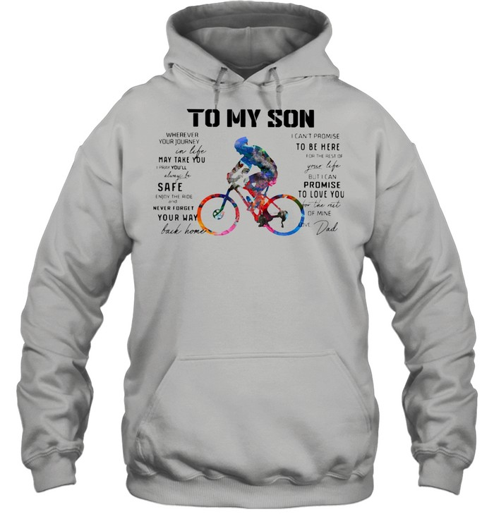 Cycling Dad To My Son Love You Colors shirt Unisex Hoodie