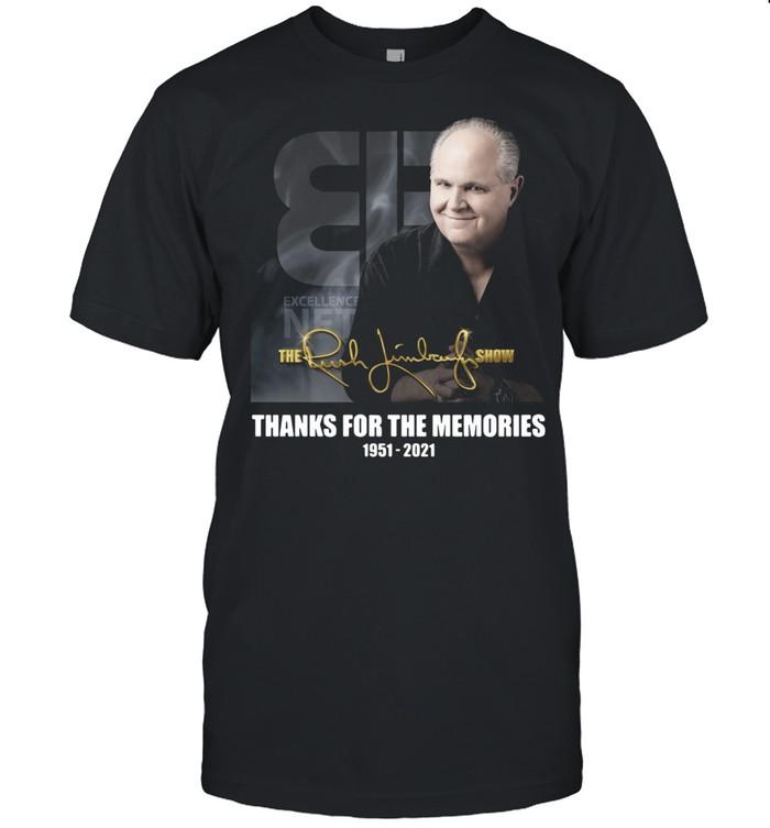 Rush Limbaugh Thanks For The Memories 1951-2021 Signature shirt