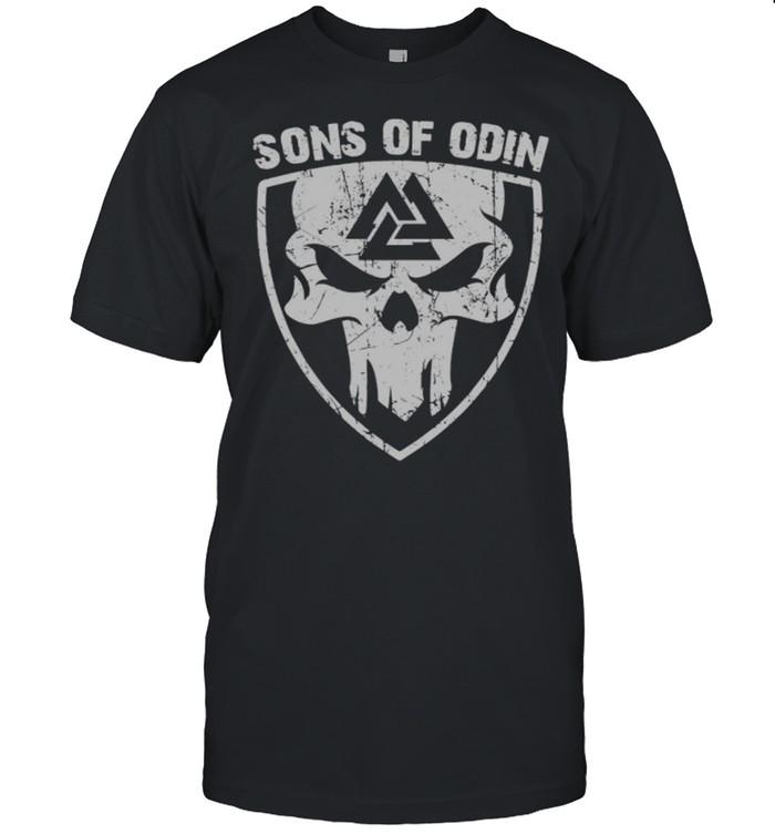 Skull Valhalla Sons Of Odin shirt
