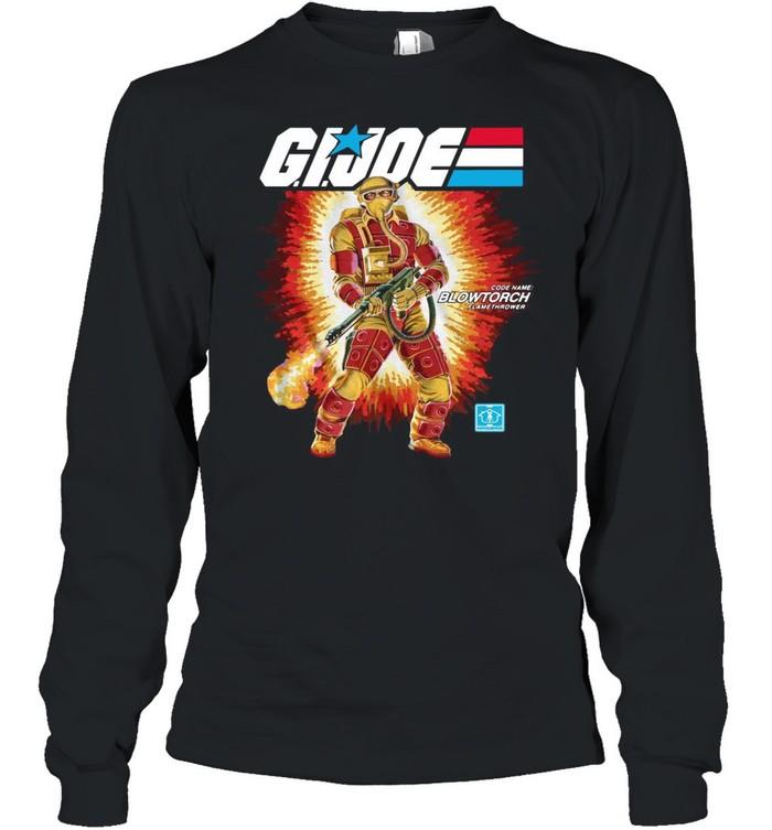 Gi Joe Code Name Blowtorch Flame Thrower shirt Long Sleeved T-shirt