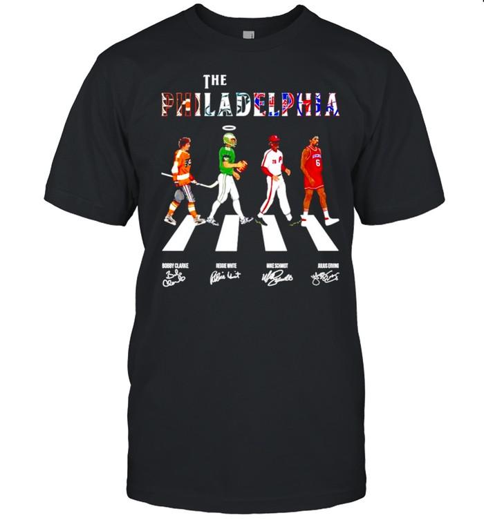 The philadelphia teams sport abbey road signatures shirt