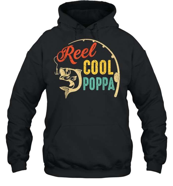 Vintage Fishing Reel Cool Poppa shirt Unisex Hoodie