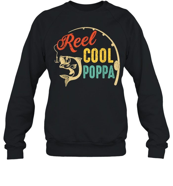 Vintage Fishing Reel Cool Poppa shirt Unisex Sweatshirt