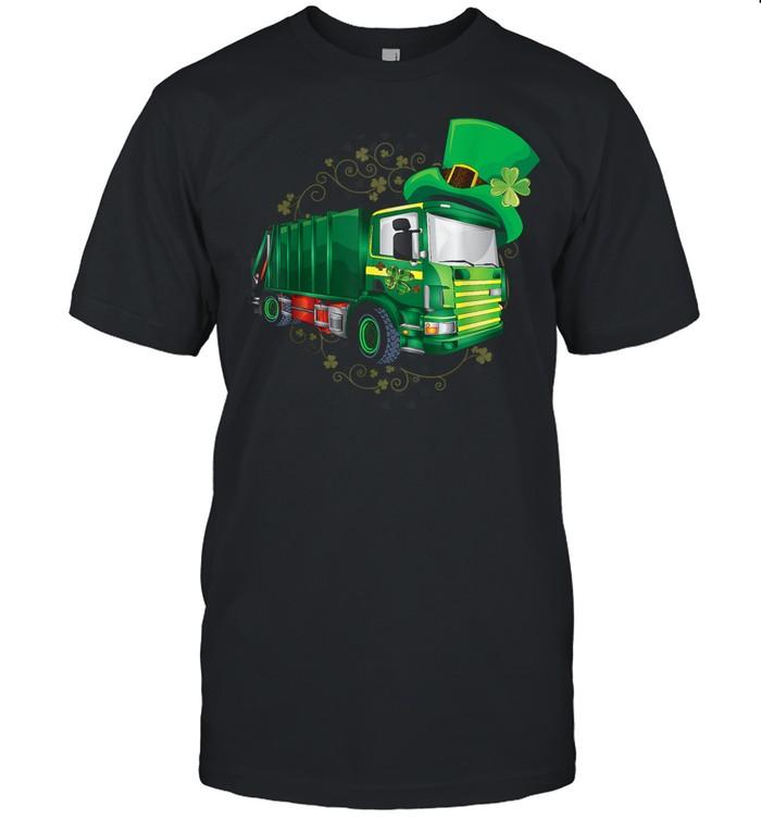 Garbage Truck Patricks Day shirt