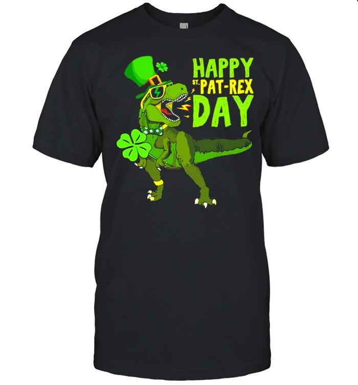 Happy St Pat Rex Day Saint Patrick's Day Dino Tyrannosaurus shirt
