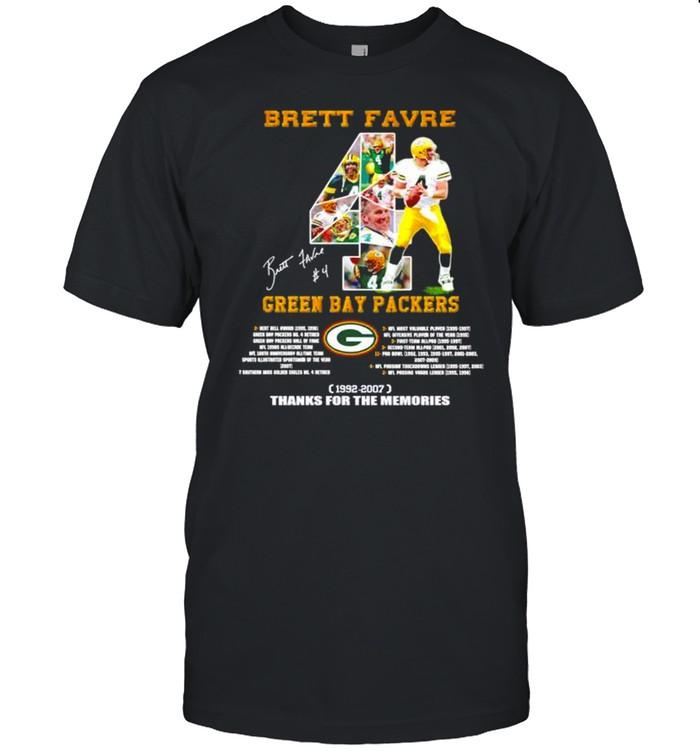 Brett Favre Green Bay Packers 1992-2007 thanks for the memoreis shirt