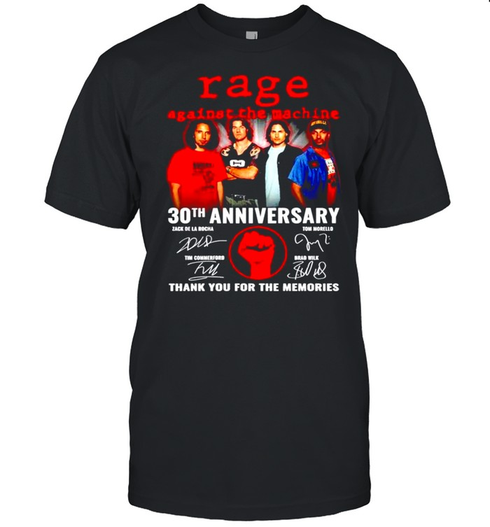 Rage against the machine 60Th anniversary signature thank for the memories shirt