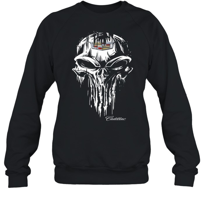 Skull Cadillac shirt Unisex Sweatshirt
