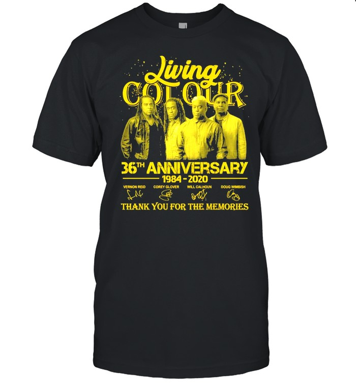 Living Cot Our 36th Anniversary 1984 2020 Signatures Thank You For The Memories Shirt