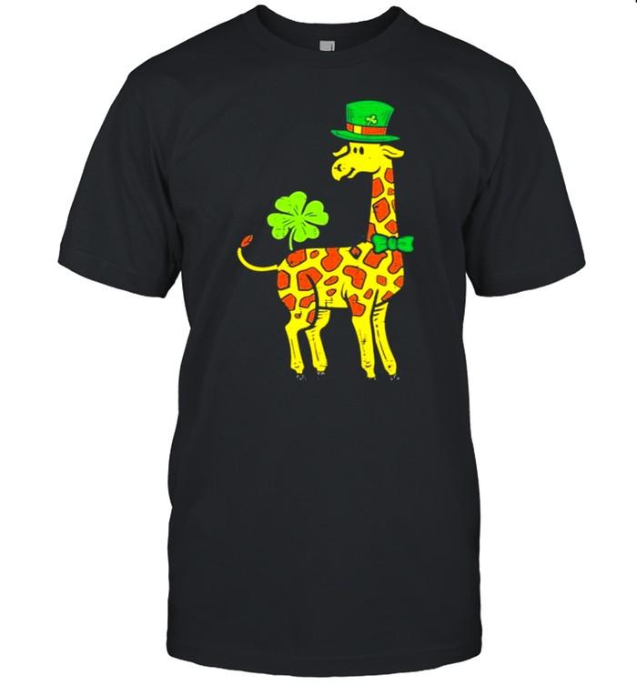 Irish Leprechaun Giraffe Shamrock St Patrick Day Animal Shirt