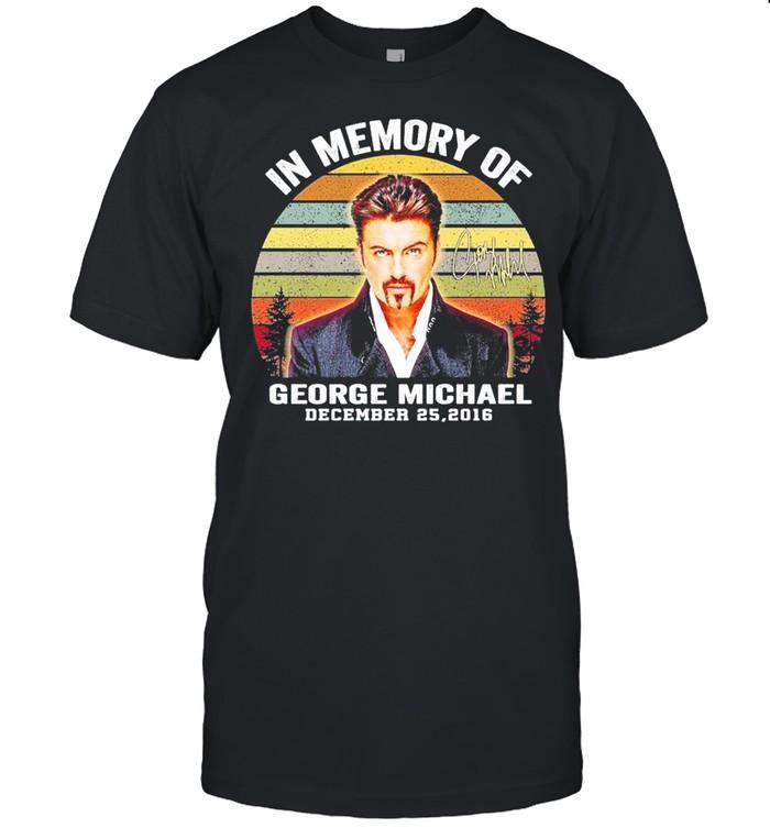 In Memory Of George Michael December 25 2016 Signature Vintage Shirt