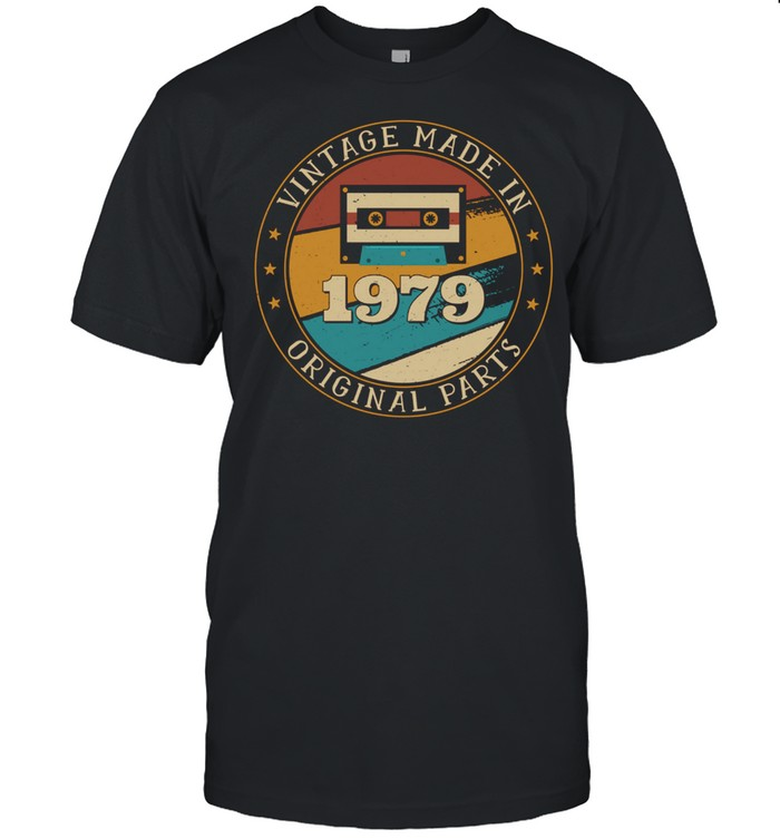 42 Years Old Mixtape Cassette Made In 1979 42nd Birthday shirt