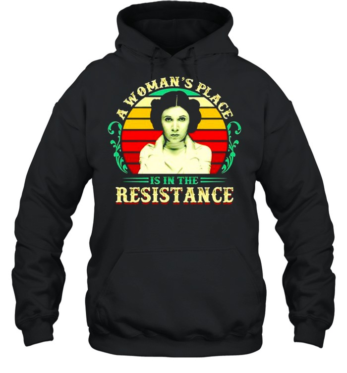 A woman's place is in the resistance vintage shirt Unisex Hoodie