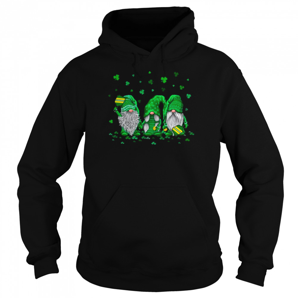 Gnome Playing Pickleball Happy St Patrick's Day 2021 shirt Unisex Hoodie