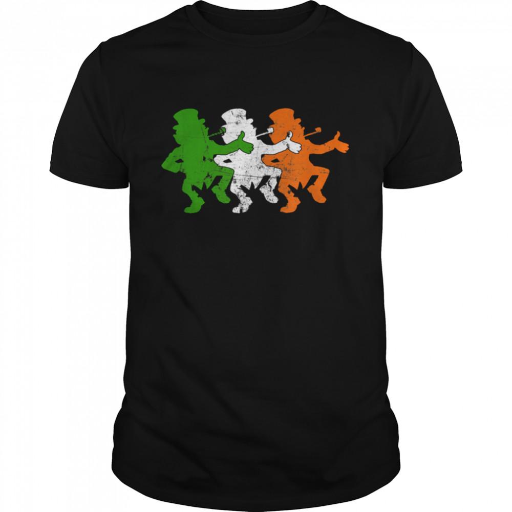 Leprechaun Irish Flag Colors Ireland Ancestry Festive Family shirt