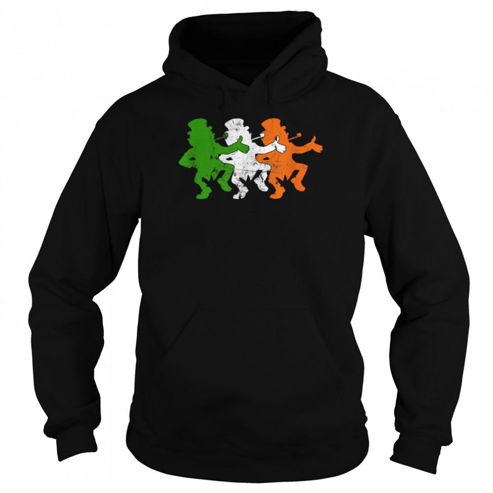 Leprechaun Irish Flag Colors Ireland Ancestry Festive Family shirt Unisex Hoodie