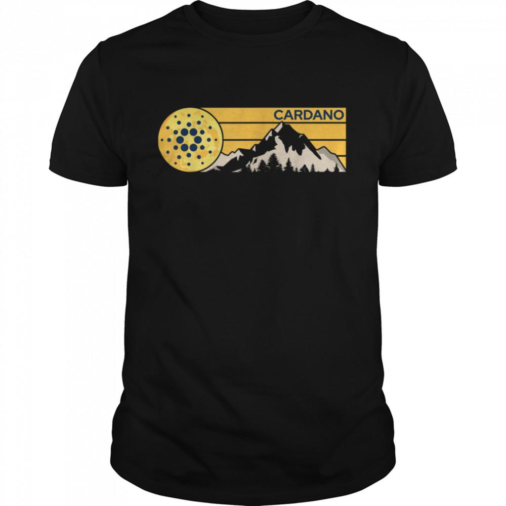 Cardano ADA Cryptocurrency Moon Mountain shirt