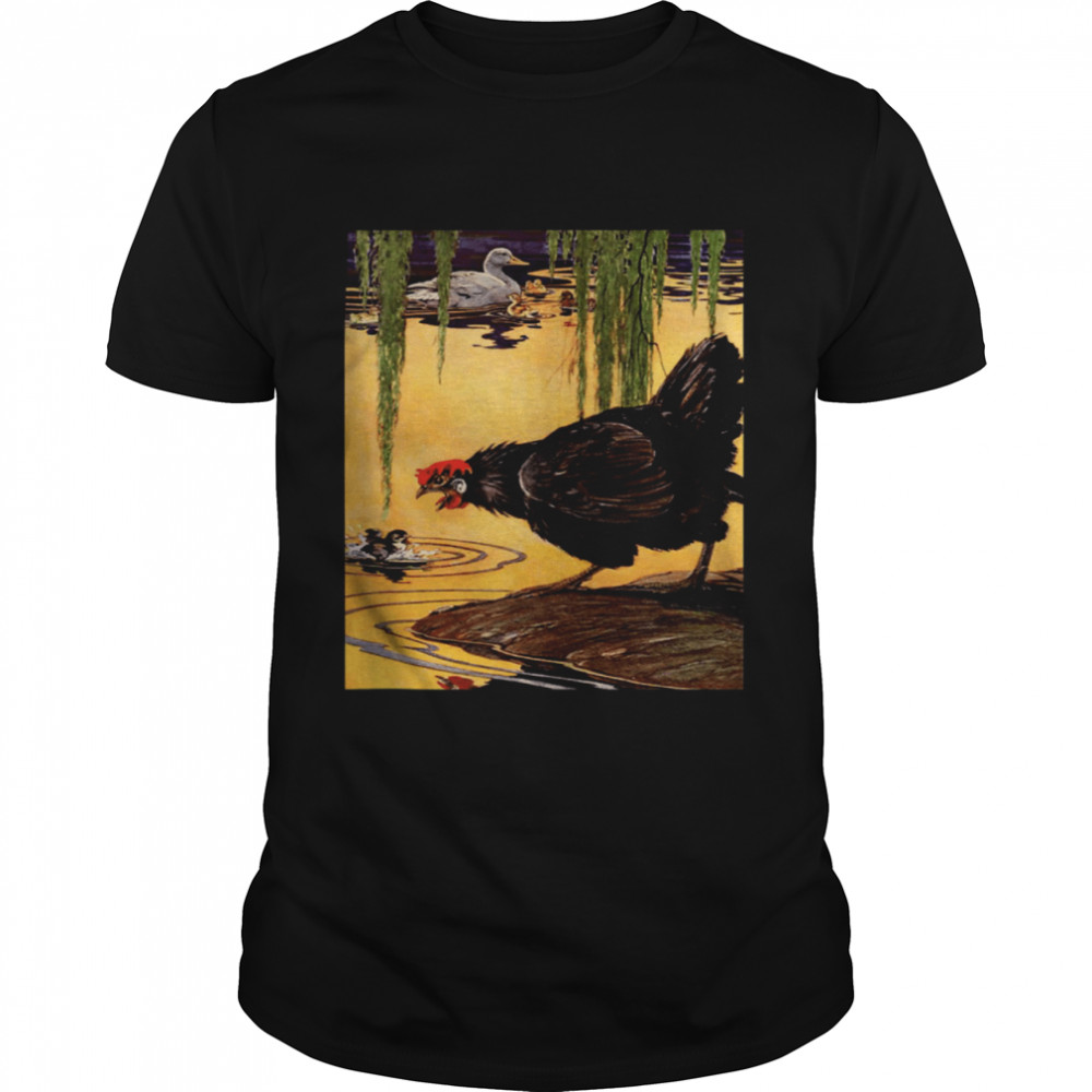 Homestead Barnyard Babies Rooster Chickens and Ducks shirt