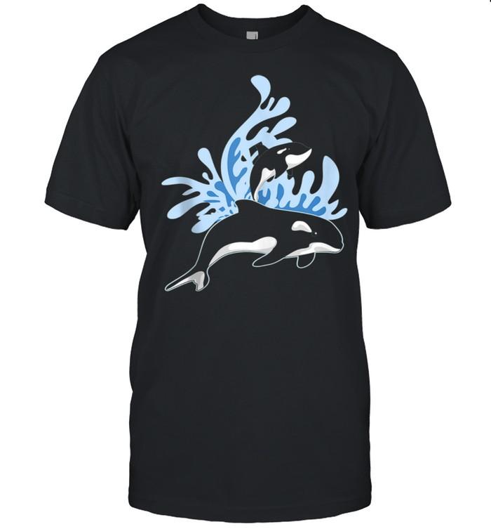 Ocean Animal Sea Waves Aquarium Killer Whale Orca shirt