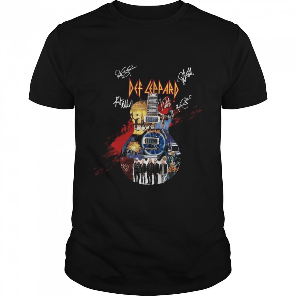 Eclectric Guitar Def Leppard shirt