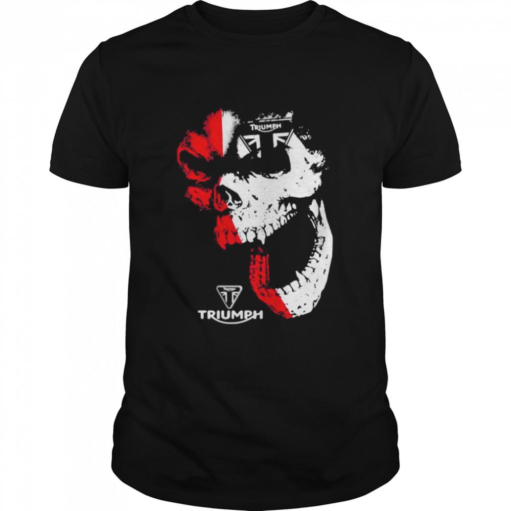 Skull With Logo Triumph Shirt