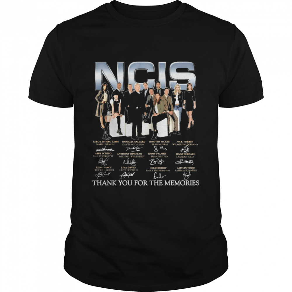 Ncis Movie 2021 signatures thank you for the memories shirt