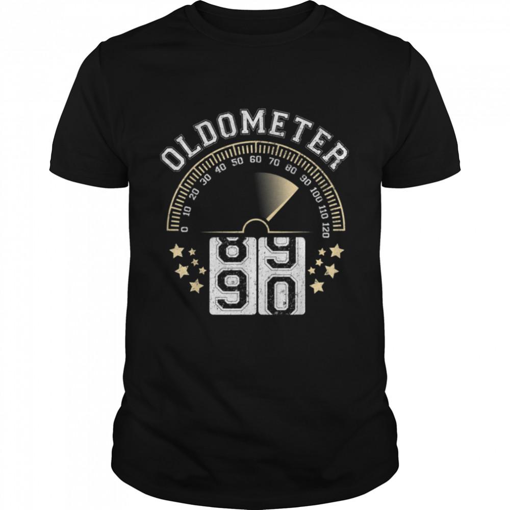 Oldometer Turning to 90 BD Retro For ManWoman Shirt