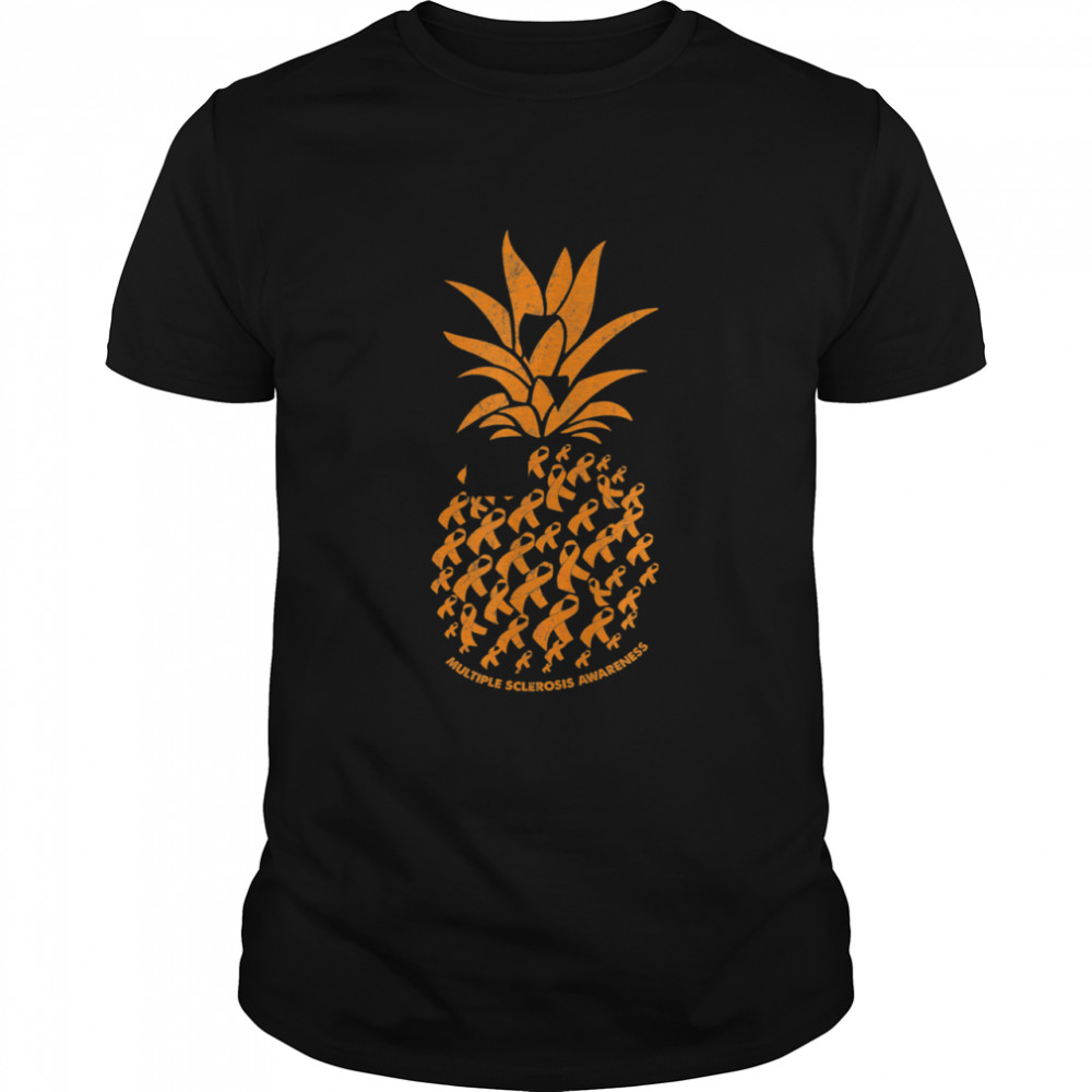 Pineapple Multiple Sclerosis Awareness Costume Ribbon Shirt