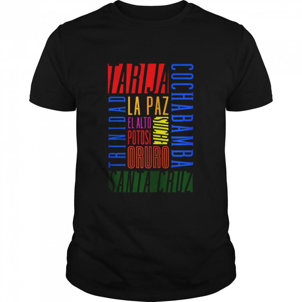 Cities of Bolivia shirt