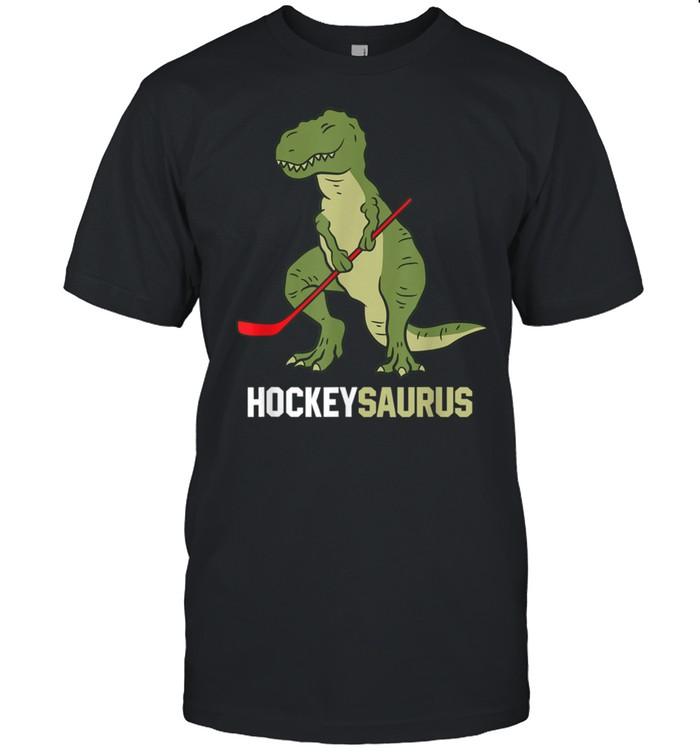 Niedlicher Dinosaurier Eishockey Dinosaurier Hockeysaurus Shirt