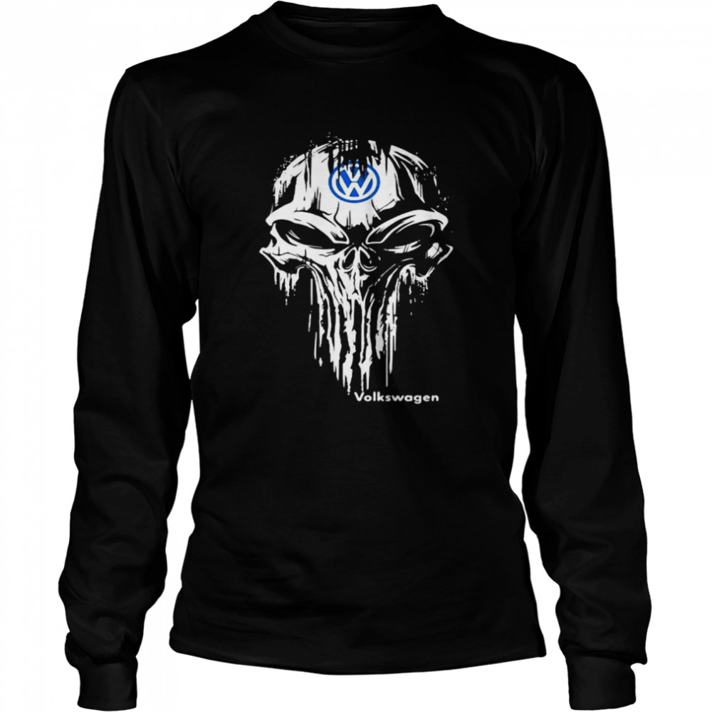 Punisher With Logo Volkswagen  Long Sleeved T-shirt