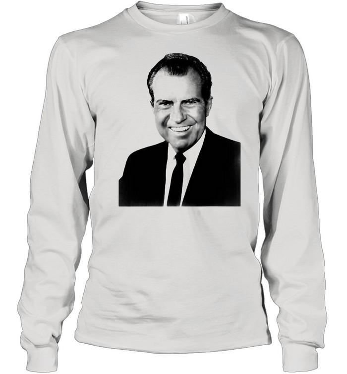 President Richard Nixon Portrait Funny Conservative T-shirt Long Sleeved T-shirt