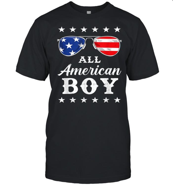 All American Boy 4th Of July Boysns Sunglasses Shirt