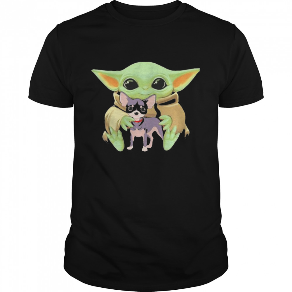 Baby Yoda Hug Chihuahua Dog Shirt