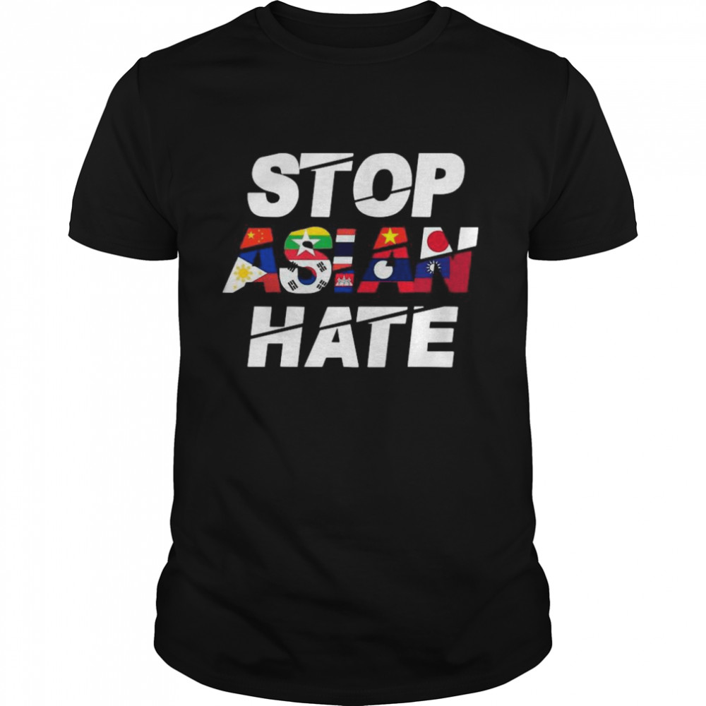 Stop Asian Hate Flag Wonderful shirt