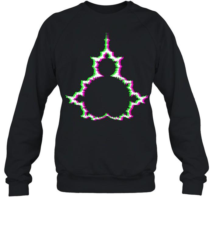 Psychodelische Mandelbrotmenge Abstraktes Apfelmännchen shirt Unisex Sweatshirt