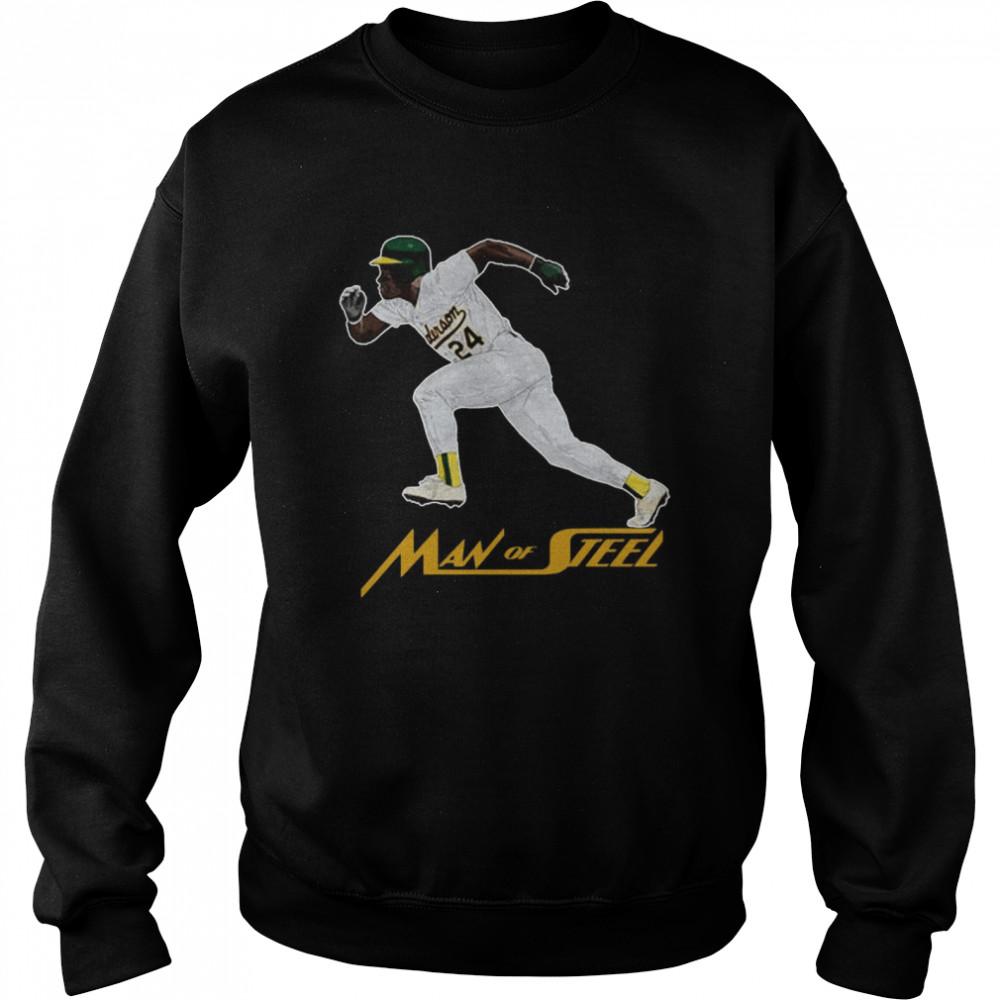 Rickey Henderson 24 Man Of Steel shirt Unisex Sweatshirt