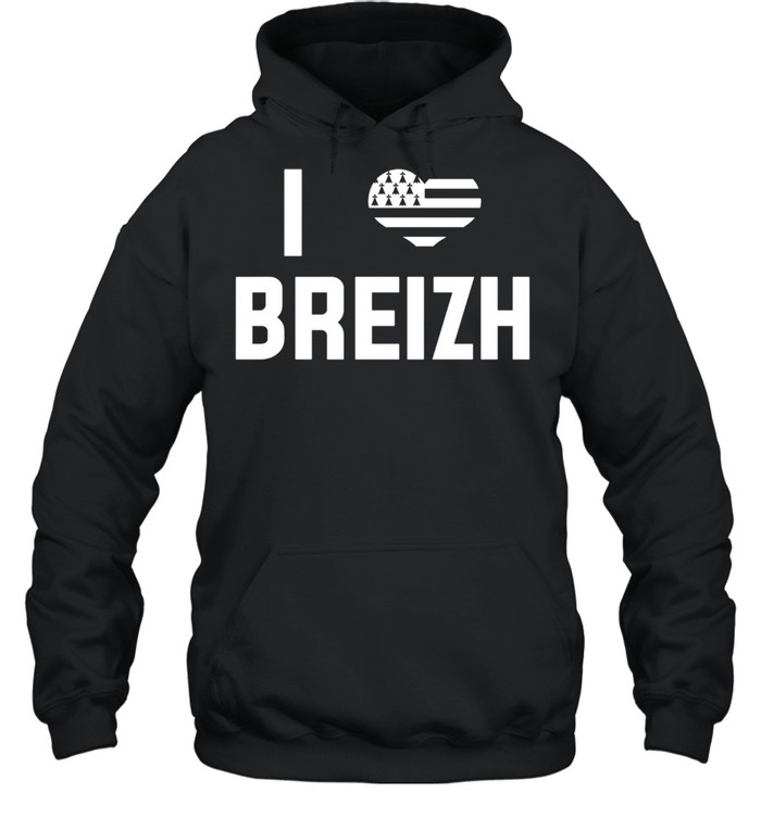 I Love Brittany Flag Vacation Bretons France  Unisex Hoodie