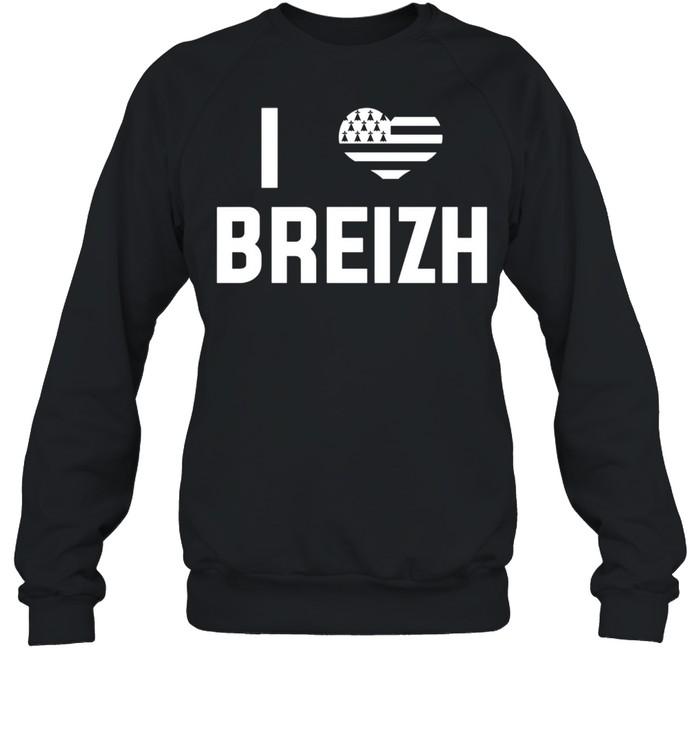 I Love Brittany Flag Vacation Bretons France  Unisex Sweatshirt