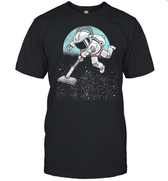 Astronaut Vacuuming Stars Space Shirt