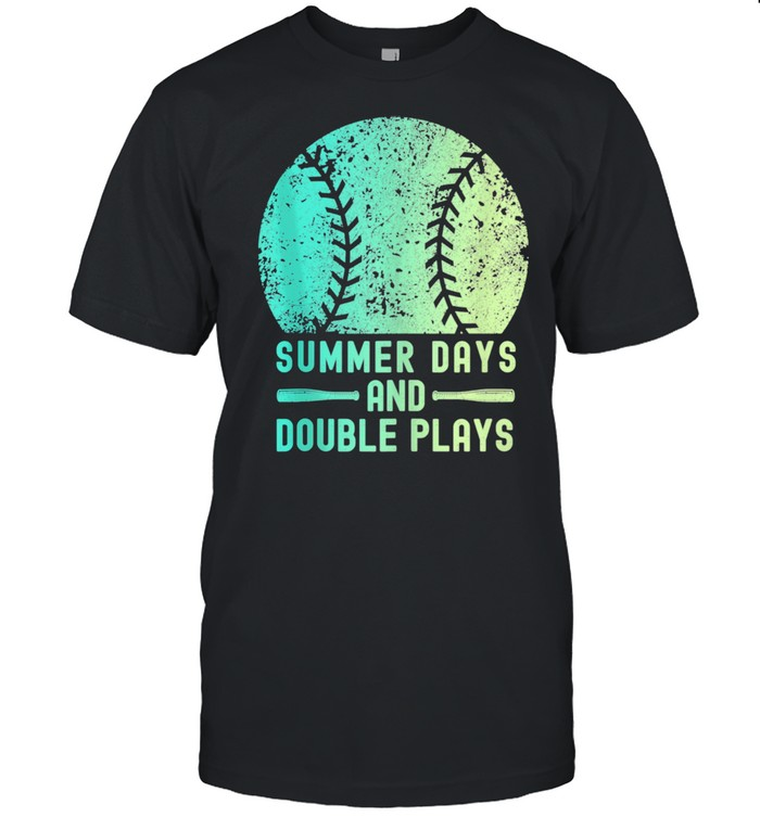 Summer Days And Double Plays Softball Shirt