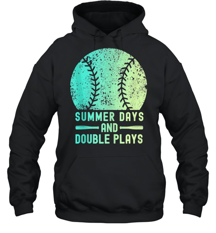 Summer Days And Double Plays Softball  Unisex Hoodie