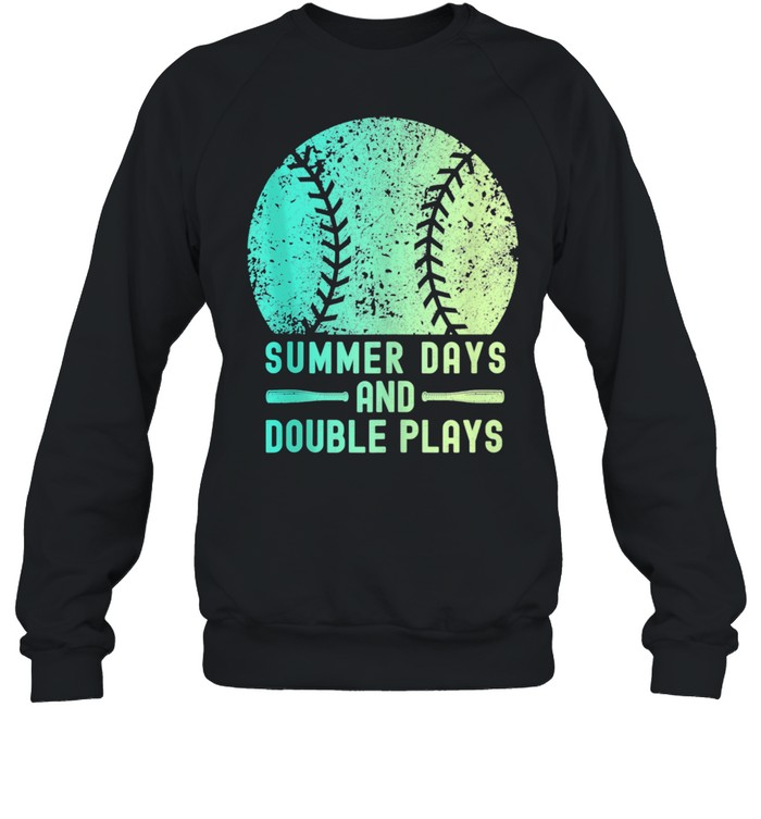 Summer Days And Double Plays Softball  Unisex Sweatshirt