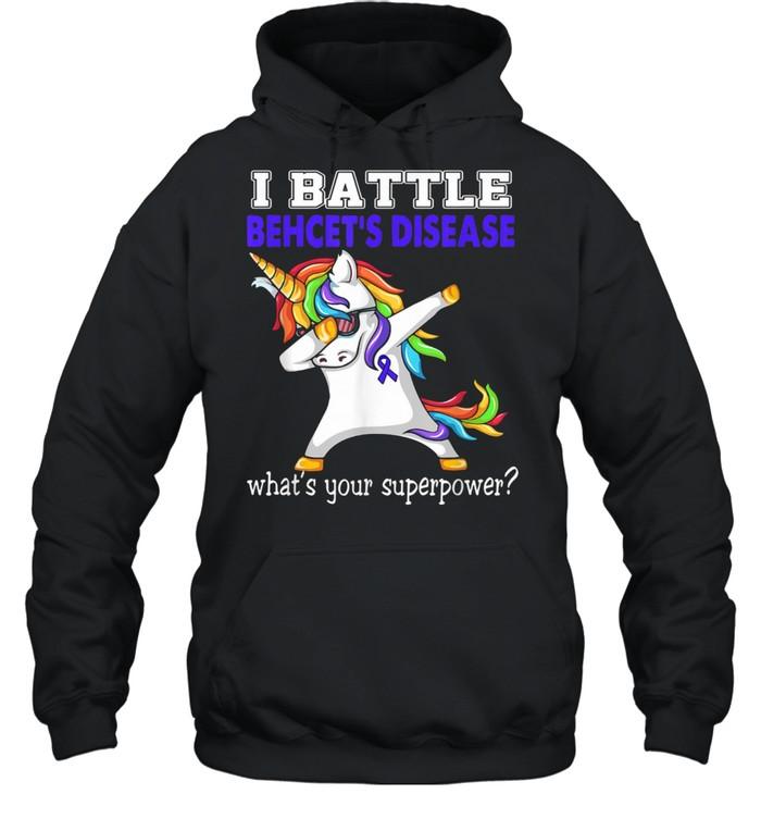 Unicorn I Battle Behcet's Disease Awareness  Unisex Hoodie