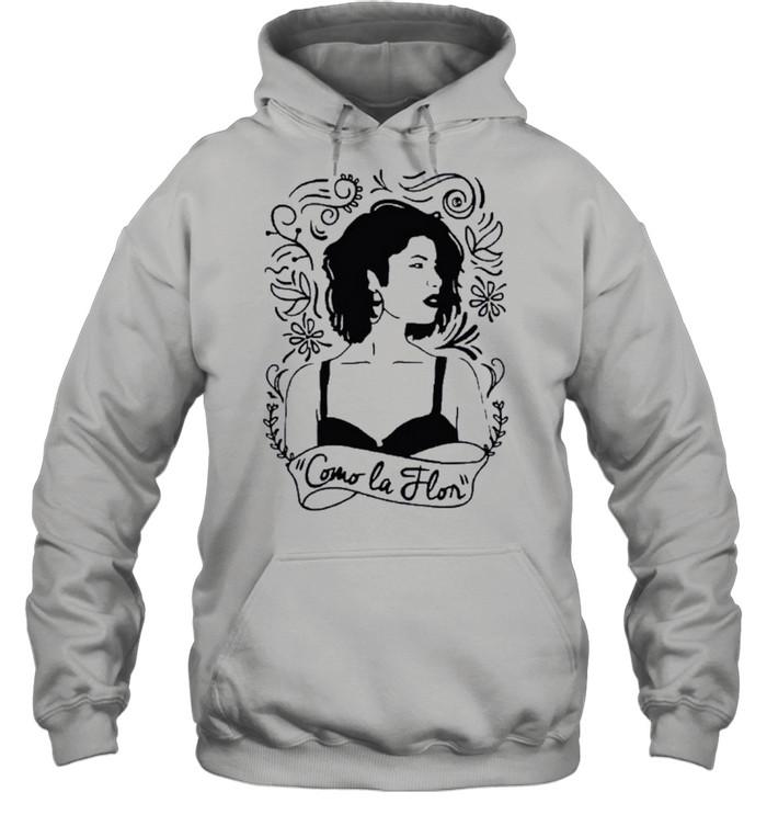 Como la flor selena quintanilla love music retro 80s 70s shirt Unisex Hoodie